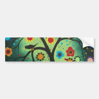 FOLK ART BY LORI EVERETT Never Alone Bumper Sticker