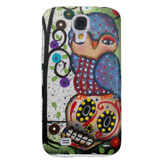 Folk Art By Lori Everett OWL Galaxy S4 Cases
