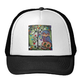 Folk Art By Lori Everett OWL Trucker Hat