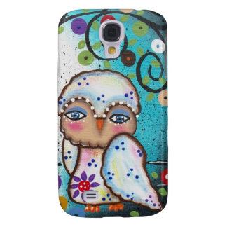 Folk Art By Lori Everett OWLS Galaxy S4 Cases
