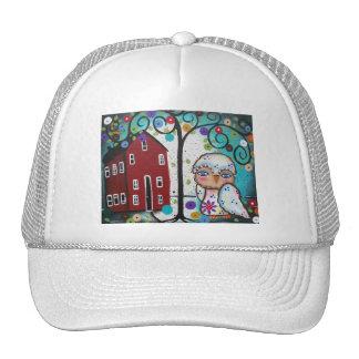 Folk Art By Lori Everett OWLS Trucker Hat