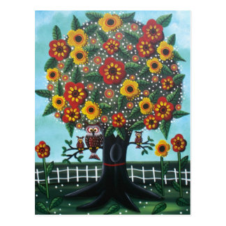 Folk Art BY LORI EVERETT postcard