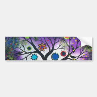 FOLK ART BY LORI EVERETT Rainbow Twilight Bumper Sticker