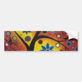 FOLK ART BY LORI EVERETT Waiting For The Sunset Bumper Sticker