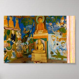 Folk-art Cambodian Buddha image Poster