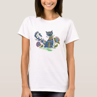 Folk Art Cat with Attitude T-Shirt