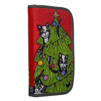 Folk Art Cats Christmas Tree Folio Planner