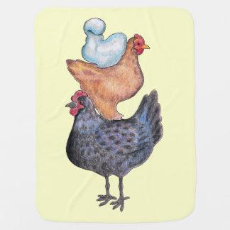 Folk Art Chickens Blanket