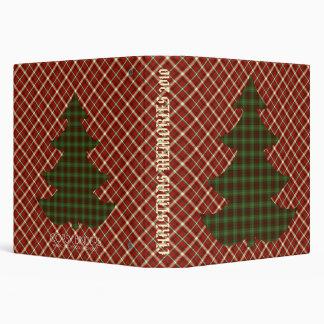 Folk-art Christmas Crimson Plaid 3 Ring Binder