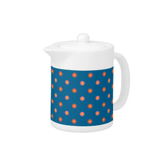 Folk Art Collection Polka Dots China Teapot
