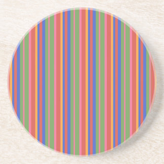 Folk Art Collection Stripes Sandstone Coaster