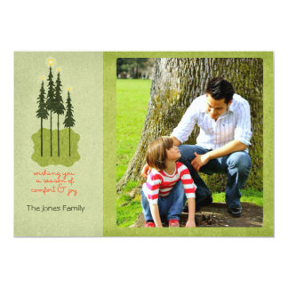 Folk Art Comfort and Joy Christmas Photo Cards
