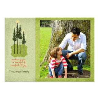 Folk Art Comfort and Joy Christmas Photo Cards