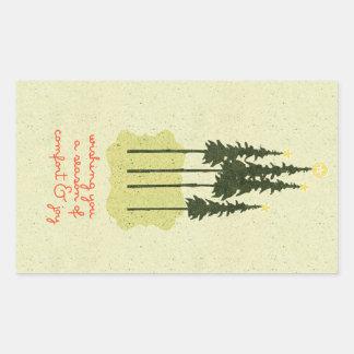 Folk Art Comfort and Joy Christmas Stickers