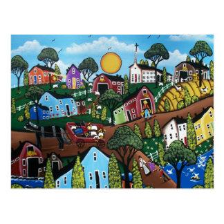 FOLK ART Country Living BY LORI EVERETT postcard