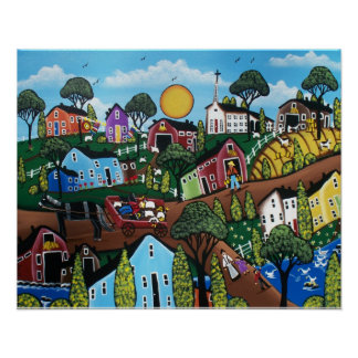 FOLK ART Country Living BY LORI EVERETT Poster