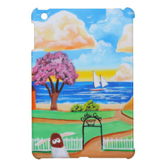 Folk art cow painting by Gordon Bruce Cover For The iPad Mini