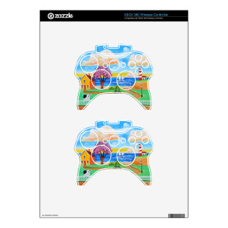 Folk art cow painting by Gordon Bruce Xbox 360 Controller Decal
