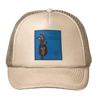 FOLK ART, Cute Lady, BY LORI EVERETT Trucker Hat