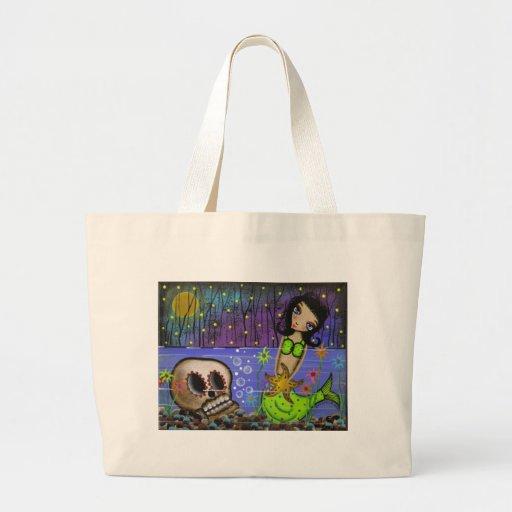 Folk Art Day Of The Dead By Lori Everett Jumbo Tote Bag