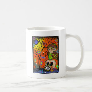Folk Art Day Of The Dead By Lori Everett Coffee Mug