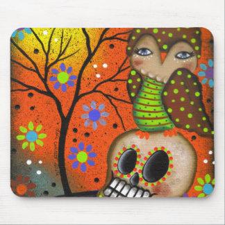Folk Art Day Of The Dead By Lori Everett Mousepad