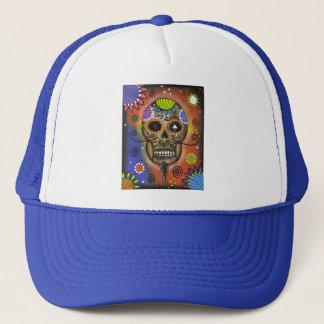 Folk Art Day Of The Dead By Lori Everett Trucker Hat