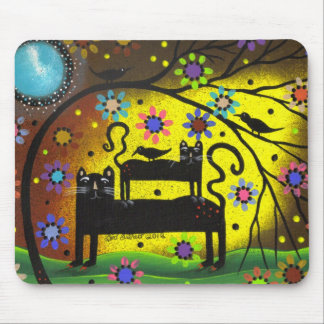 Folk Art Double Trouble By Lori Everett Mouse Pad