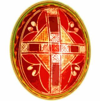 Folk Art Easter Egg Ornament Key Chain / Ring