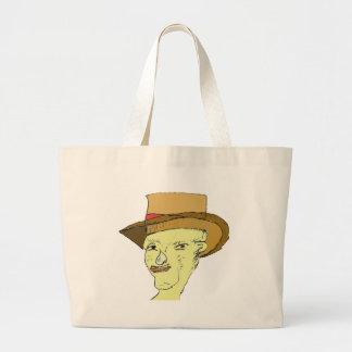 Folk Art Face 1 Jumbo Tote Bag