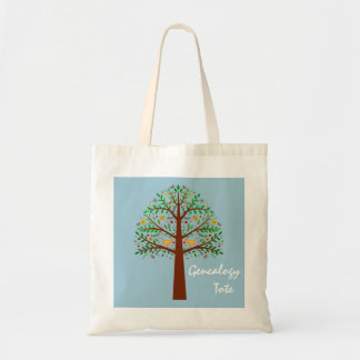 Folk Art Family Tree Genealogy Tote