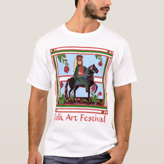 Folk Art Festival - Colorful Toy Soldier on Horse T-Shirt