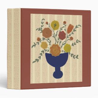 Folk Art Flower Arrangement Scrapbook Binder