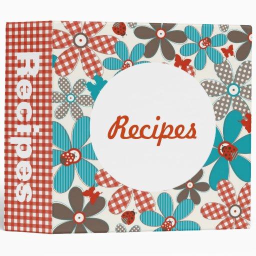 Kitchen Folk Art: Folk Art Flower Kitchen Recipe Binder