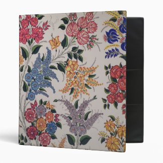 Folk Art Flowers 3 Ring Binder