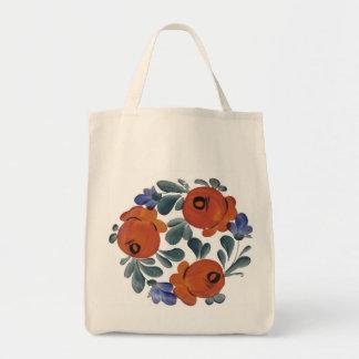 Folk Art Flowers Tote Bag