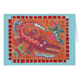 Folk Art Gator Card