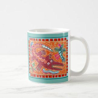 Folk Art Gator Coffee Mug