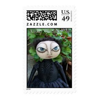 Folk Art Goth Doll Stamp