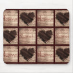 Folk Art Home Sweet Home Collage Hearts Mouse Pad