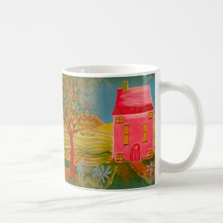 Folk Art House and Landscape Coffee/Tea Mug