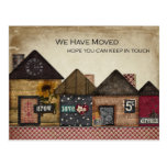 Folk Art Houses We've Moved Post Cards