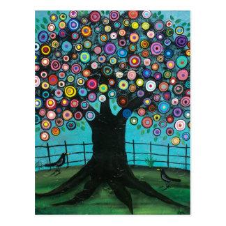 FOLK ART Imagination BY LORI EVERETT postcard