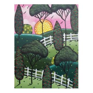 FOLK ART Joy The View BY LORI EVERETT postcard