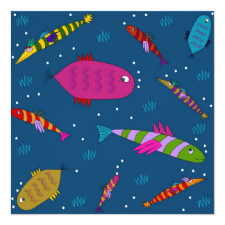 Folk Art Koi Carp Children's Day Party Invitations
