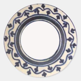 Folk Art Label Round Sticker
