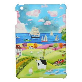 Folk art landscape painting by Gordon Bruce Case For The iPad Mini