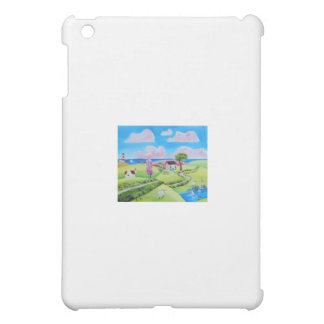 Folk art landscape painting Gordon Bruce Cover For The iPad Mini
