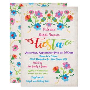 Fiesta Bridal Shower Invitations Announcements Zazzle