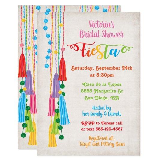 7bea94e1fc1e Folk Art Mexican Fiesta Bridal Shower Invitation